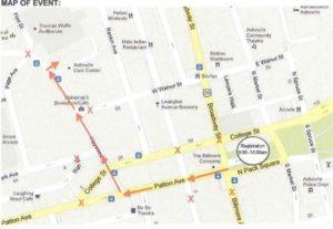 Downtown Dribble map