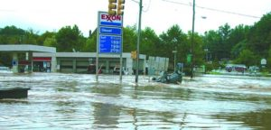 Portions of Biltmore Village flooded 4 feet deep when Tropical Storms Ivan and Frances converged on WNC in September 2004.