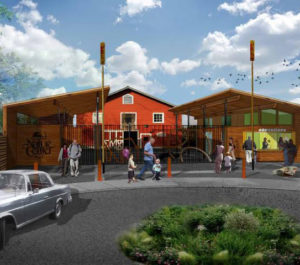 This rendering shows what the new front entrance to the WNC Nature Center will look like when complete.