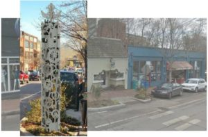 The new public artwork will be installed at 65 N. Lexington Ave., a spot adjacent to several retail establishments.