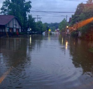 Sweeten Creek Road at Reed Street in Biltmore Village, at 6 a.m. Wednesday, May 31, 2018.