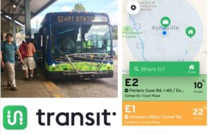 Transit app collage