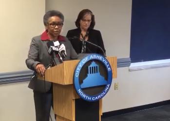 Debra Campbell at podium