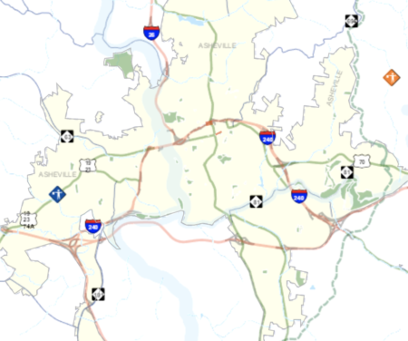 Transportation closure map