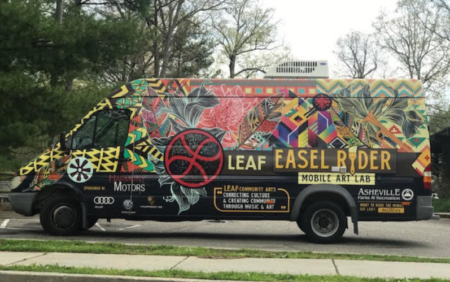 photo of mobile art van
