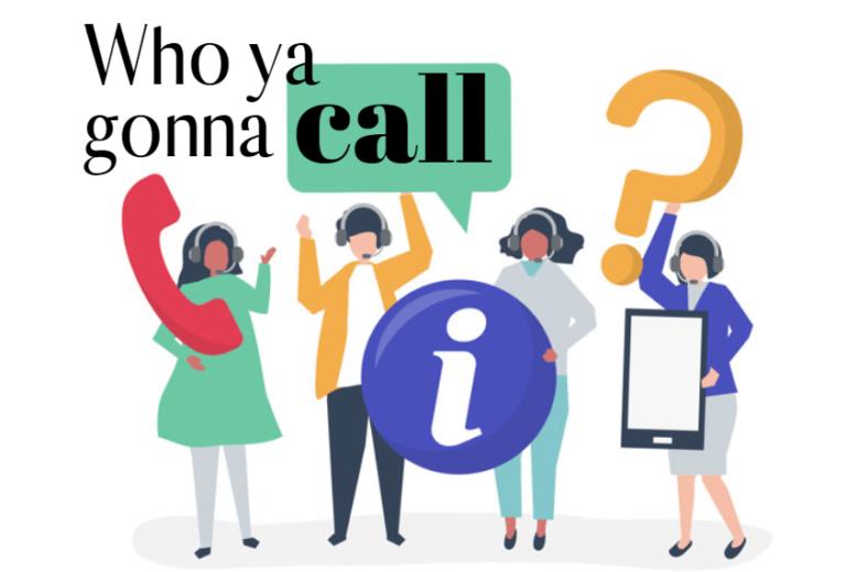 Call center illustration